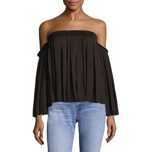 Elizabeth & James Emelyn black off shoulder blouse